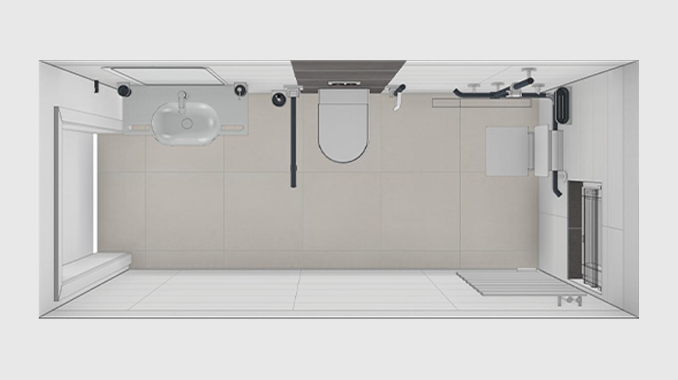 Badezimmer 12Qm