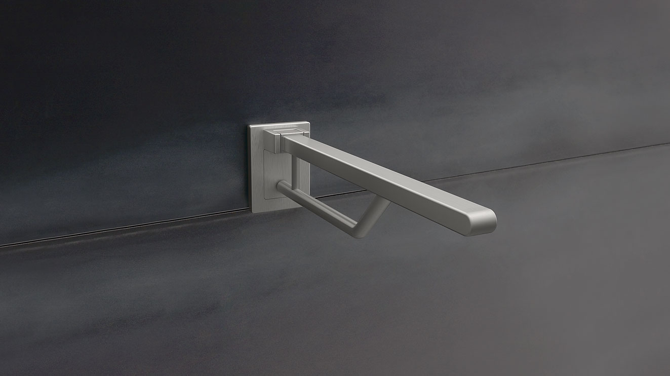 Hinged support rails