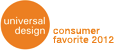 universal design award 2012 consumer favourit