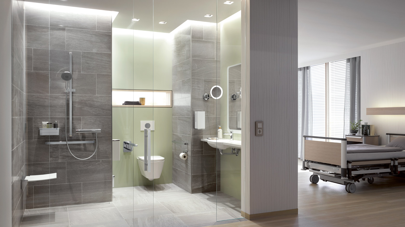 Toilet Accessoires Set : Hewi system solutions for bathrooms and sanitary rooms accessible