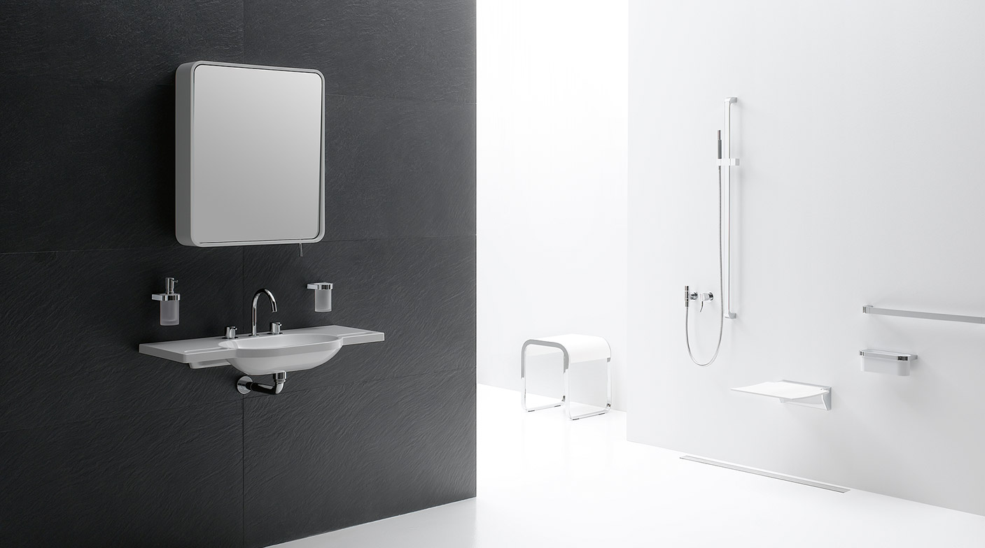 sanit r produkte reduziertes design und materialvielfalt. Black Bedroom Furniture Sets. Home Design Ideas