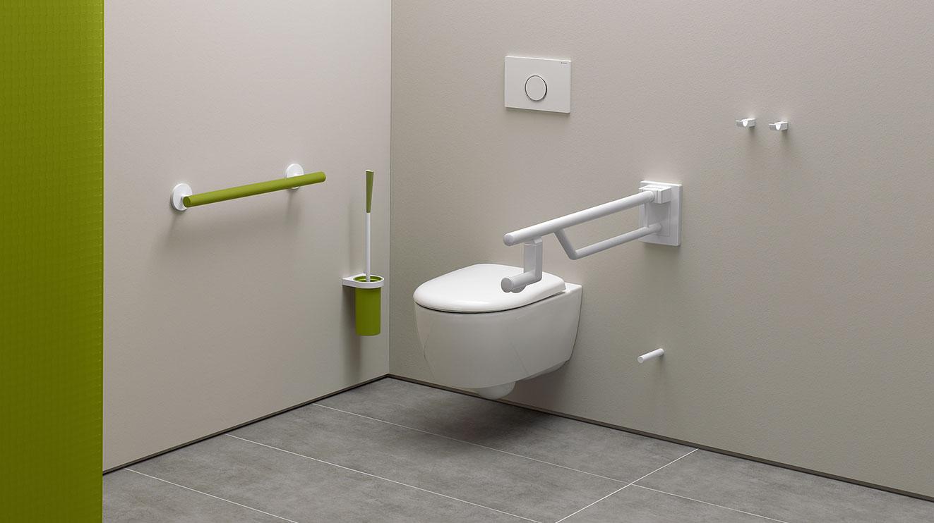 system 800 k accessible sanitary system highly contrasting design hewi. Black Bedroom Furniture Sets. Home Design Ideas