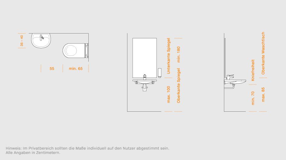barrierefreie waschtische l sungen f r den sanit rbereich hewi. Black Bedroom Furniture Sets. Home Design Ideas