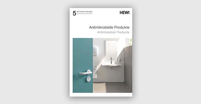 Brochure with information about the effectiveness of antimicrobial products