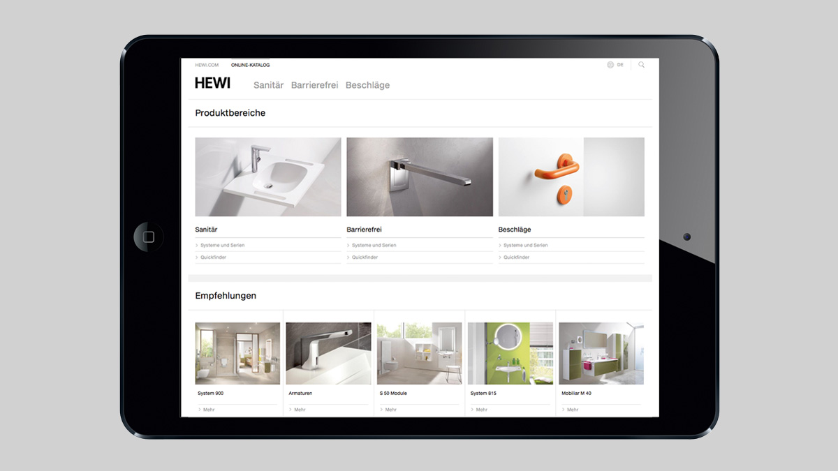 New functions in the HEWI online catalogue