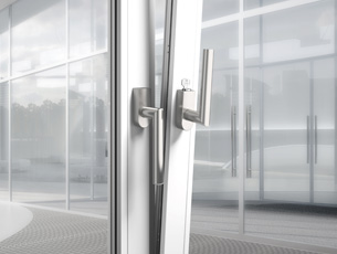 Panic bar and push/pull handle sets, Security Escutcheons for External Doors, Lockable Window Handles