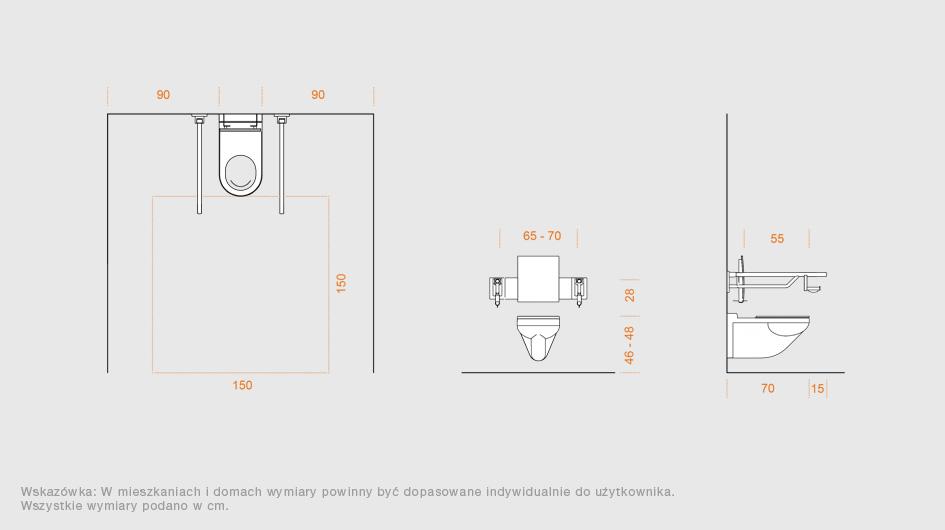 systemowe rozwi zania do pomieszcze sanitarnych hewi bez barier hewi. Black Bedroom Furniture Sets. Home Design Ideas