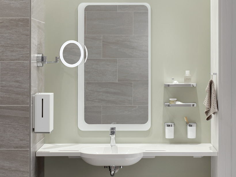 HEWI mirrors and adjustable mirrors | Flexibly usable and ...