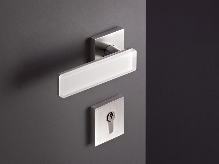 Range 180, lever handle stainless steel, glass application