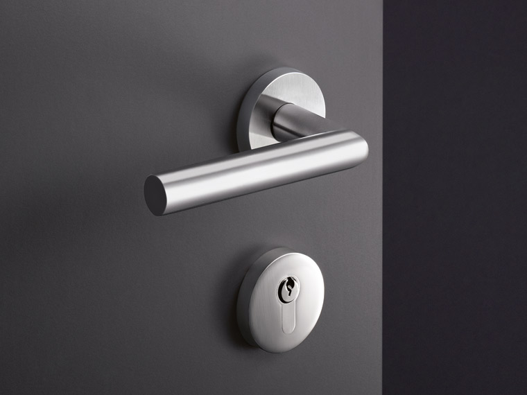 System 162, functional lever door fitting, stainless steel