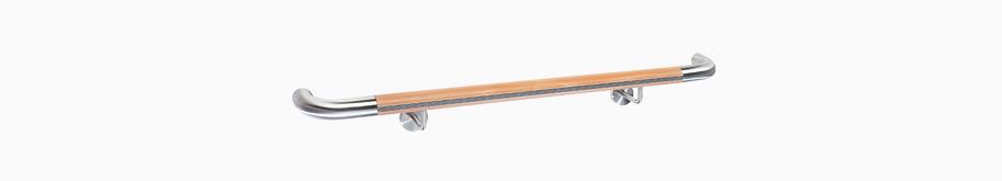 system lignum protect holzhandlaufsystem integrierte rammschutz hewi. Black Bedroom Furniture Sets. Home Design Ideas